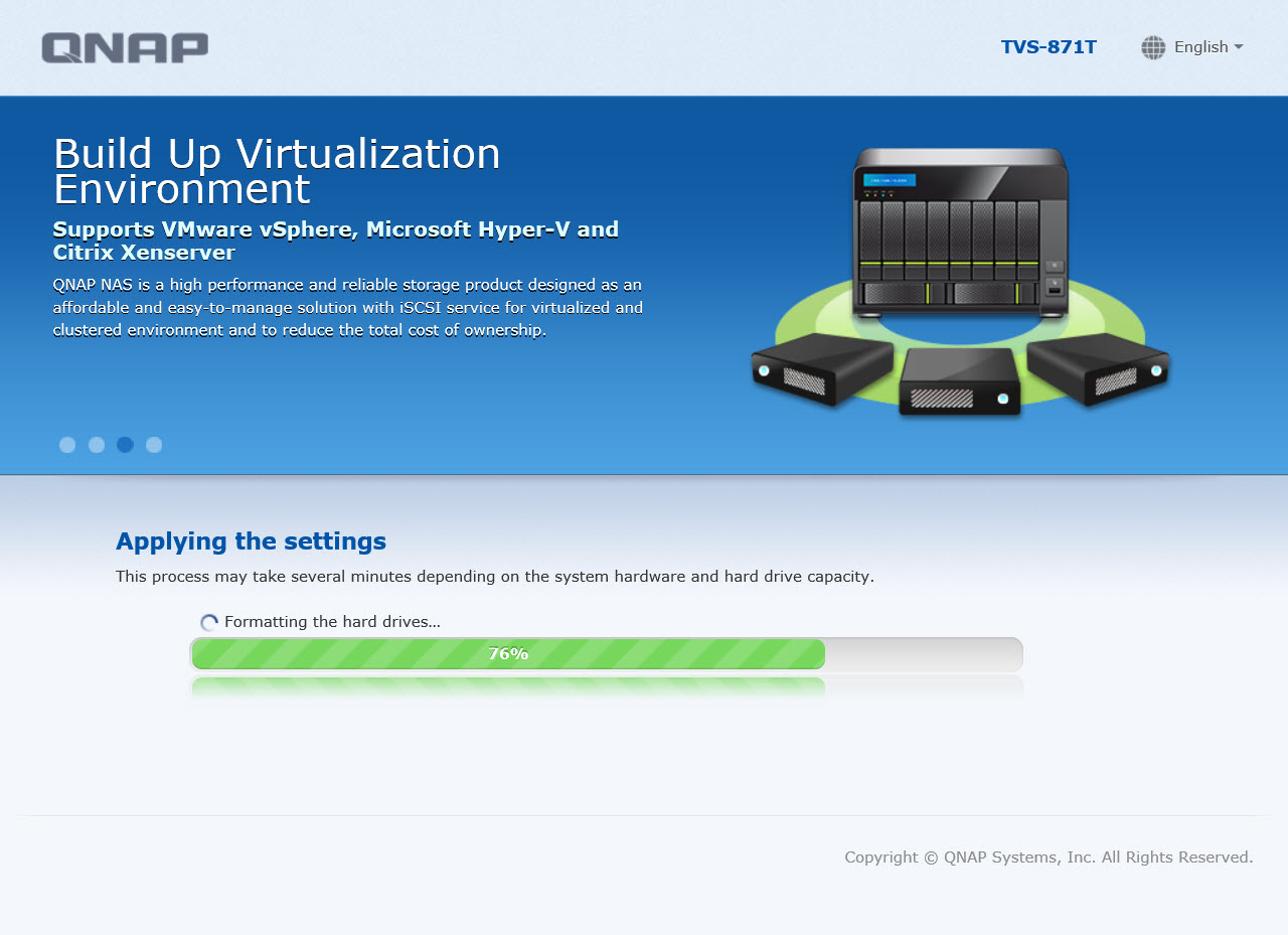 Qnap First Time Installation Troubleshooting And Faq Ts 228 2 Bay Nas Server External Storage 3 Kurulum Tamamlama