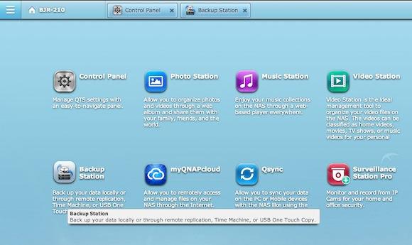 QNAP-Time-Machine-Home-Screen