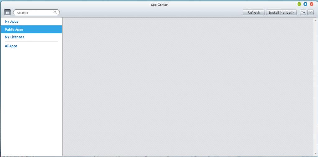 app center emty
