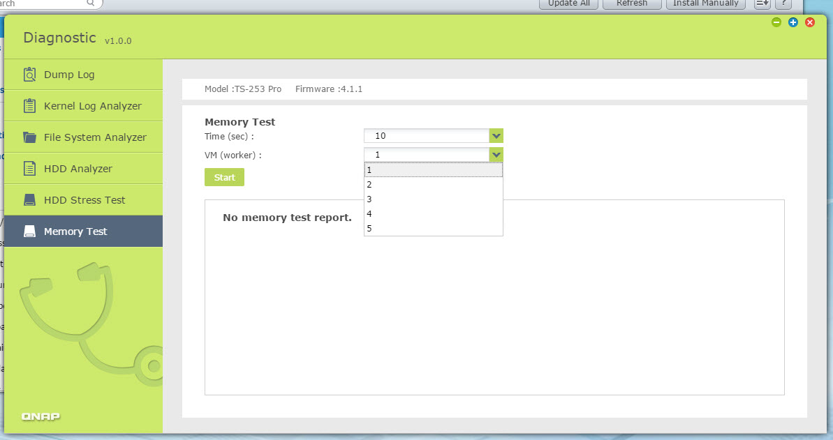 vmware memory test