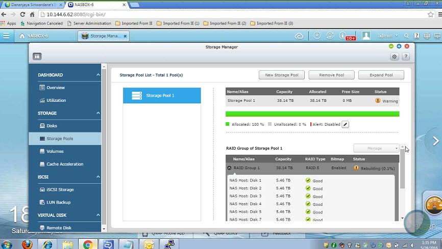 qnap hdd rebuilding doesnt stat (3)