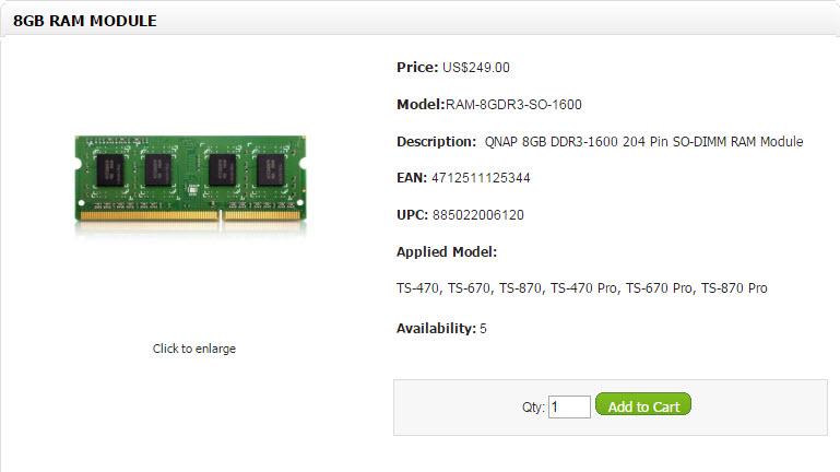 Qnap RAM Modules (8)