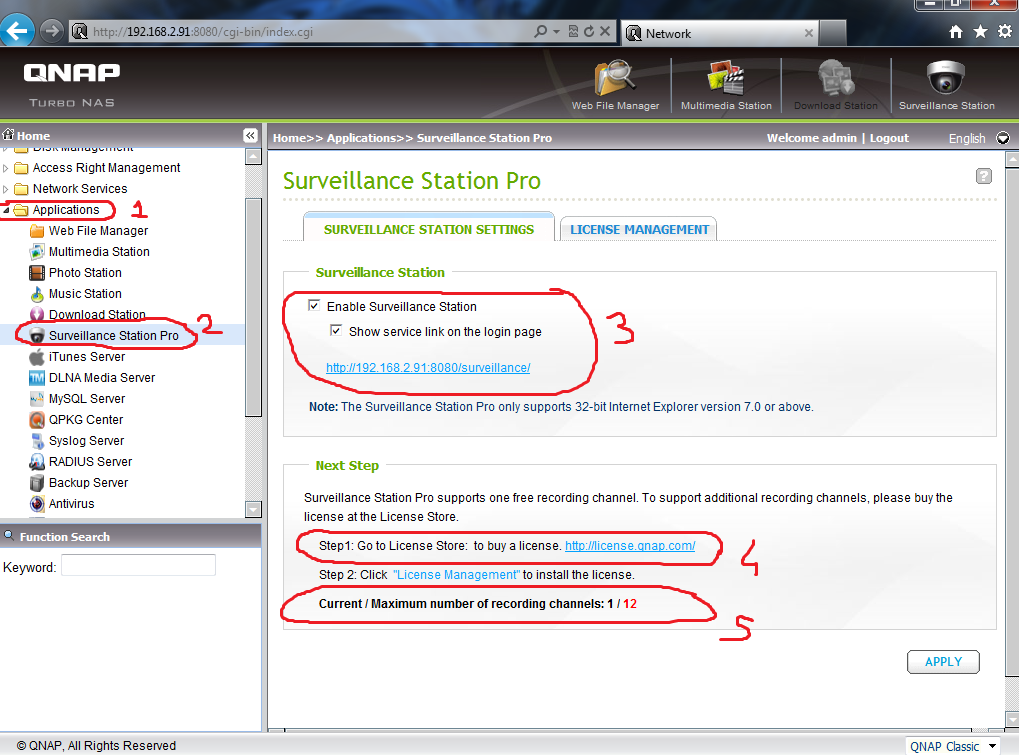 How to set up the Surveillance Station of QNAP NAS On 3 8 4