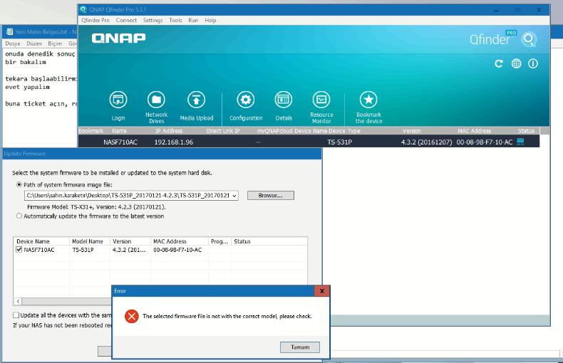 qnap 531p firmware problem
