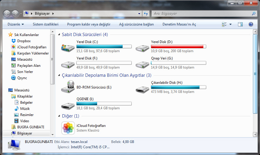 Qgenie as external HDD