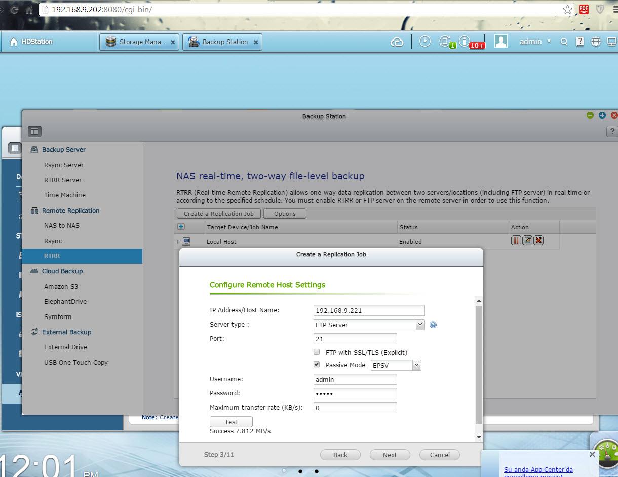 2 - qnap FTP backup
