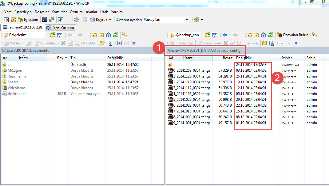 2 - backup files