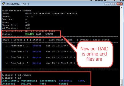 Qnap Raid not active (3.1)