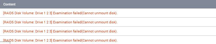 Examination failed(Cannot unmount disk) (2)