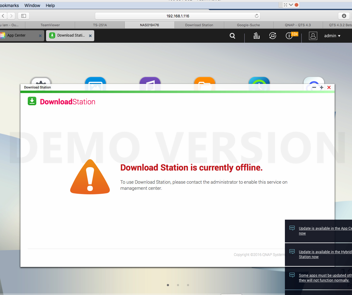 Qnap Download Station Stops Working Suddeny And Gives This Error