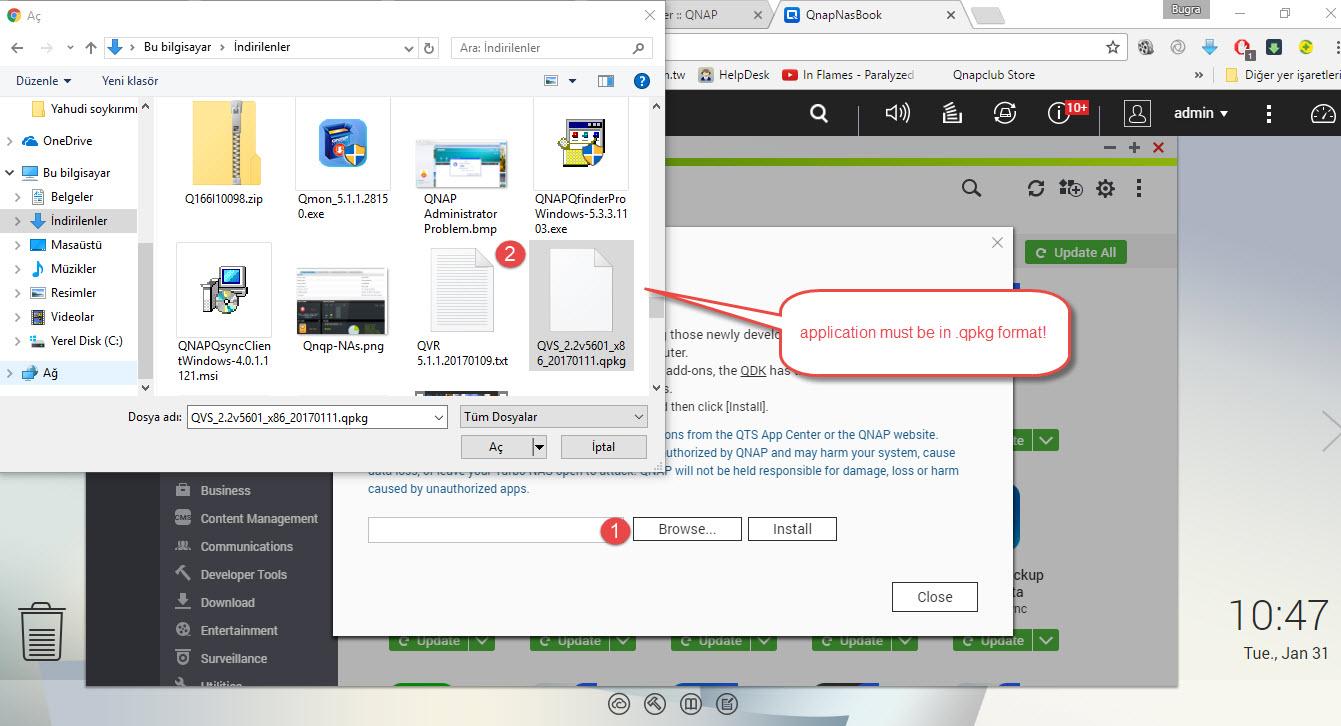 Qnap manual app install 3