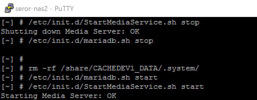 qnap media library fix
