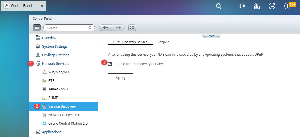 qnap disable upnp