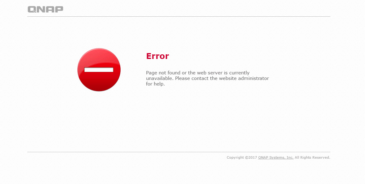 Error Page Not Found Or The Web Server Is Currently